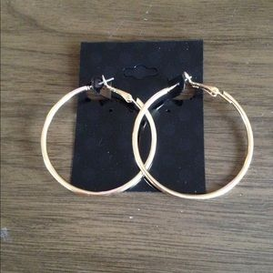 """Jewelry - Hypo Allergenic 2"""" gold tone hoops"""